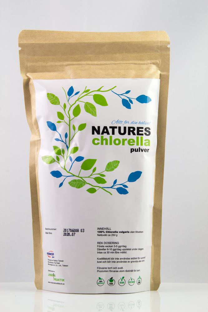 Natures Chlorella pulver